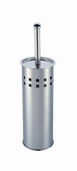 New Premier Housewares Stainless Steel Square Design Toilet Brush Holder Set